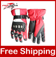 Windproof Ski gloves Waterproof Ski gloves Pro-biker SPEED Retail Racing Winter Thick gloves HX-04 Hot Sale Free Shipping