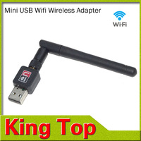 1PCS Mini 150M USB WiFi Wireless Network Networking Card LAN Adapter with Antenna Computer Accessories Wifi Adapter