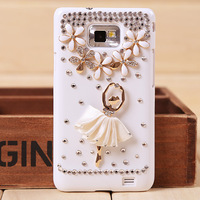 Retail for three colours Case ballet girl Samsung GALAXY i9100/i9300 SII/SIII free shipping