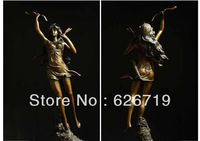 Free shipping Classical Female archer sculpture Bronze  statue Door to Door CZS-176