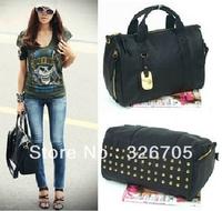100% Rivets decoration handbags fashion women bags messenger bag Soft Handle Medium Clutch One Shoulder Ladies Casual tote Bag