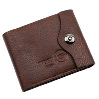 Hot sale 2013 Men's casual suction buckle leather wallet  have cion bag men wallets leather man purse CC11