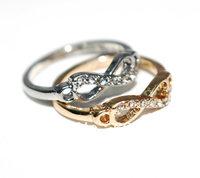 Min Order $10 (Can Mix Item) Elegant rhinestones 8 infinity ring midi knuckle rings shiny fashion jewelry wholesale