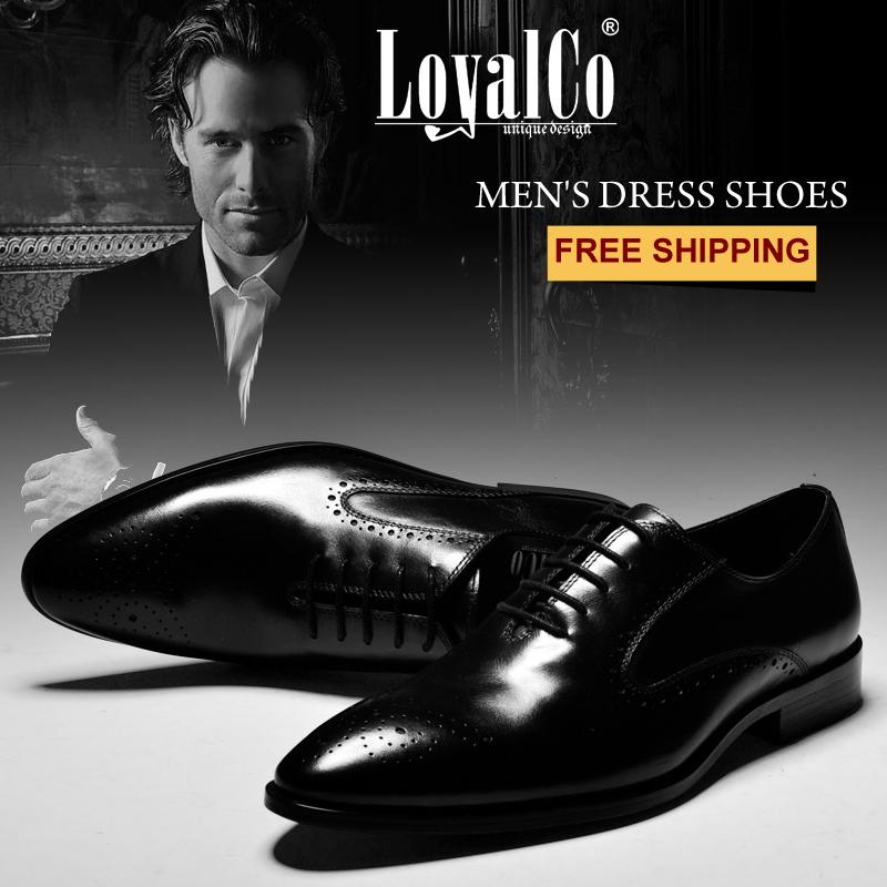 Hommes d'affaires des chaussures à lacets en cuir véritable chaussures chaussures de mode automne laçage. printemps, loyalco benmali l'ue. size38-46 appartements en peau de vache