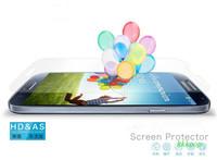 High Quality screen protector for samsung galaxy s4/i9500 , 100pcs front screen guard +100pcs clean cloth
