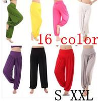 M -XXL plus size High waist Women Harem Modal Dancing Trouser  Loose overall Wide women sport yoga pants  women