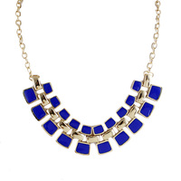 2013 New Fashion Colorful Square Enamel Adjustable Collar Necklace