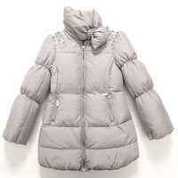 2013 new arrival girl's down coat rhinestone girls thick jacket kids outwear girls winter feather coat