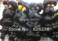 "6A Brazilian Virgin human hair products 2pcs lot, brazilian loose wave human hair free tangle full bottom 12""~36"""