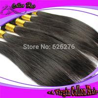 Free shipping 6A Virgin Collen hair: 3pcs lot,  Natural Black Brazilian Virgin Remy Straight hair extension for black women