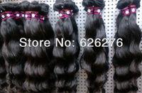"6A free Fast SHIPPING 12""-30"" natural black -100% UNPROCESSED Peruvian Virgin human Hair weft Water wave  3pcs/lot"