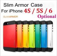 100pcs/lot* SPIGEN SGP SLIM ARMOR Hard case Tough Armor Neo Hybird Back Cover TPU Plastic  For iphone 5 5c 4s 4