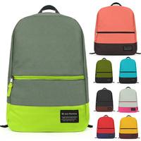 "New 2014 Women Backpack Candy Color (15) Nylon Fabric Waterproof men's Backpack School Bag Laptop 15""mochila feminina 46*30cm"