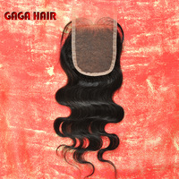 "Cheap 100% Peruvian virgin Human hair extension,Bleached knots,cheap lace top closure,Free parting,lace size 3.5""*4"" Body Wave"