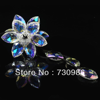 "Free shipping,Imported crystal car ornaments,car accessories,Handmade six leaf ""Lucky Lily"""