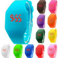 Newest Girls/Boys LED Watch Ultra-thin Design 14 Colors Fashion Woman Unisex Students Electronic Silicone Strap Watches WLED1071