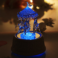 Free shipping color changing crystal carousel music box with LED light carousel musical box christmas gifts for her