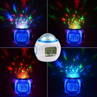Christmas Gift Colorful Music Starry Star Sky Projection Calendar Thermometer Alarm Clock 9726