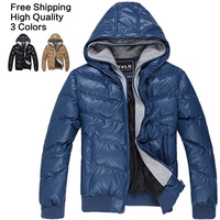Free Shipping! Promotion Price! High Quality! Casual Thicken Winter Outdoor Men Down Coat, Windbreaker, Winter Jacket