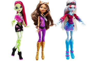 MONSTER HIGH Dolls Original,Music Festival,3 styles to choose:Venus McFlytrap/Clawdeen Wolf/Abbey Bominable ,dolls for girls