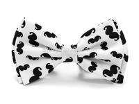 "Hot ""White Mustache"" pattern bowtie Men's Unisex Tuxedo Dress Bow tie Brand New - Free shipping"