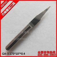 3.175*10Degree*0.4 Flat Bottom Cutting Tool Bits/ V Shape Carbide Engraving Tools/ Wood Cutters