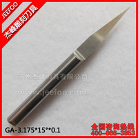 3.175*15Degree*0.1 Jeefoo Flat Bottom Engraving Tools/ Carbide Tool Bits/ V Bit/ PCB Carving Cutters/ Woodworking Router Bit