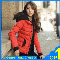 New 2013 Winter Slim Short  Down Wadded Jacket Design Women's Plus Size Cotton-Padded Jacket Outerwear Free Shipping