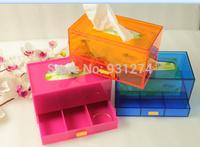 2014 Brand Drawer tissue box Napkin organizer Tissue holder napkin case Storage box Stylish home decoration Paper holder