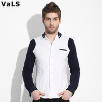 New  VaLS Autumn- summer Shirt Men, Montage Casual Long Sleeve Shirt,  100% Cotton, VaLS Brand , Slim Fit, Free Shipping