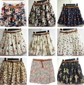 Новый плиссированные юбки женщин Saias Femininas корейский шифон лето девушки юбка с коротким женщина Saia с поясом 9 цветов 11820