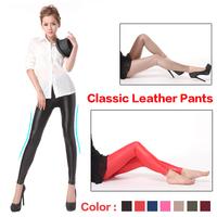 2014 women Autumn and Winter Fashion Knee size Leggings Female Rivet imitation leather pants jeans female plus thick velvet XXL