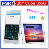 New Arrival  3G Phone Call Tablet PC  7.9 inch Cube U55GT GPS Quad Core Android 4.2 1GB/16GB Dual Camera Bluetooth