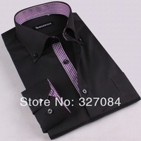 [GZ07] Free Shipping New Mens Casual Business Shirts Slim Fit Stylish Mens Dress Shirts Long Sleeve Shirts 4XL High quality