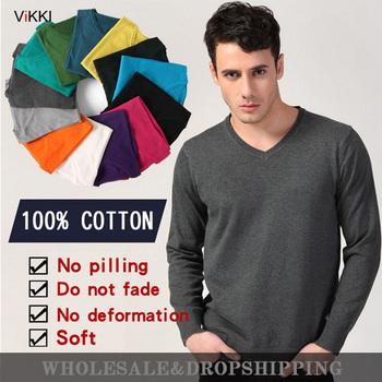 2014 новое поступление весна зима мужская мужской длинный рукав вязать цвет хлопка с v-образным вырезом свитера оптовая продажа мода кардиган рубашки MSW001