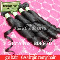 2014 Brazilian Virgin Hair weaves spring curl natural black 4pcs lot dhl free shipping 6a unprocessed human hair mega hair