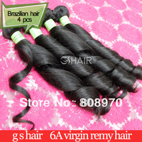 Brazilian Virgin Hair weaves spring curl natural black 4pcs lot 12-30inch dhl free shipping unprocessed human hair new year gift