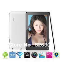 Hot 9 ALLWinner A13 Dual Camera Tablet IN STOCK for 9 Inch ALLWinner A13 Android Tablet PC T902 with 512M 8GB Free Shipping