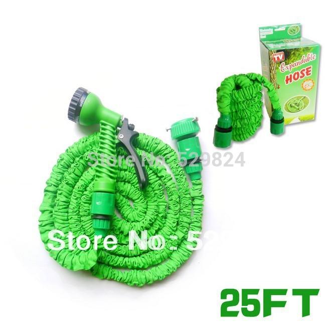 25FT EU standard fit connection Pocket hose expandable flexible hose water Garden hose, (Artificial latex) GH-01E(China (Mainland))