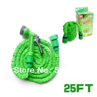 25FT EU standard fit connection Pocket hose expandable flexible hose water Garden hose, (Artificial latex)  GH-01E