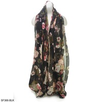 2013 Free Shipping Fashion Lady Scarf Sweet Polka Flower Patter New Arrival  Women Lace Scarves SF366  2pcs/bag