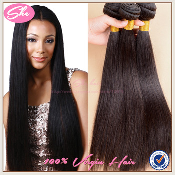 She hair brazilian virgin hair weaves,remy brazilian straight hair no tangle,soft human hair extension free shipping