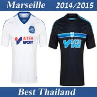 Olympique de Marseille 2014 2015 Best Thailand Quality Soccer Jersey White Black Football Soccer Uniform S-XL