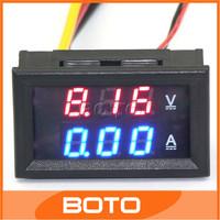 YB27-VA Car  Dual Volt/Amp Meter Digital Amperemeter Voltmeter 0-100V 100A DC Voltage Panel Meter Red/Blue Dual Display #200939