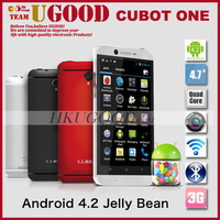 "Original Cubot One MTK6589T 1.5GHz Android 4.2 3G Smartphone 1GB RAM 8GB ROM 4.7"" IPS Screen 13MP Camera Add Free Touching Glove"