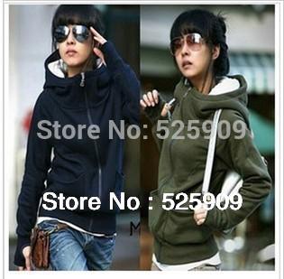 Hot Sale New cheap women Long sleeve hoodie cardigans coat women's hoodie sports wear Track hoodie sweatshirt WF-327(China (Mainland))