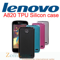 Lenovo A820 Mobile phone protection shell Case cover soft clear Silicon TPU Transparent Ultrathin colorful with a film