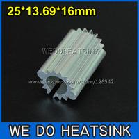 FREE Shipping 10pcs 25x13.69x16mm Round Sunflower LED Aluminum Heatsink
