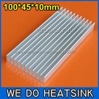 FREE Shipping 10pcs 100x45x10mm DIY Aluminum Heatsink For LED