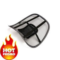 2014 Shopping Festival Free shipping  Car Seat Chair Massage Back Lumbar Support Mesh Ventilate Cushion Pad Black wholesale